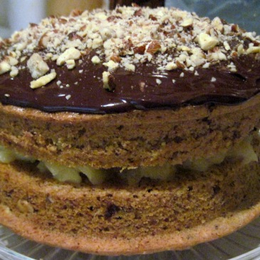 Green & Blacks' chocolate apple cake