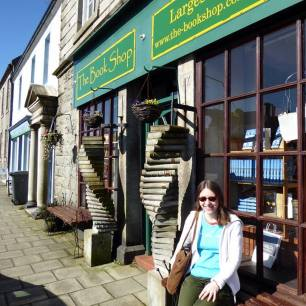 beck outside book shop wigtown