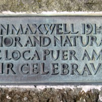 Maxwell Monument inscription